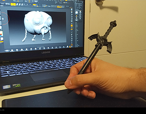 Wacom tablet pen head Zelda Master 3D printable model