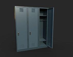 3D asset Metal Locker