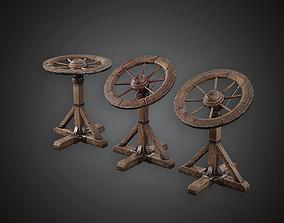 3D asset MVL - Torture Wheel - PBR Game Ready