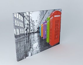 UK Canvas colors houses of the world 3D model