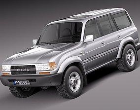 3D model Toyota Land Cruiser J80 1989-1997