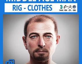 3D model Middle Age Man Alex