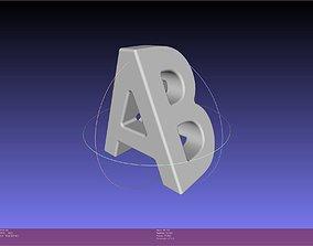 3D printable model AB Textflip Geometry