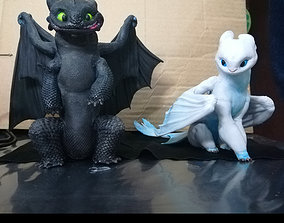 3D print ready Luna fan art from How To Train Your Dragon