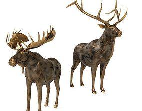 3D model Deer and elk