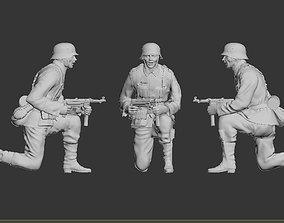 3D print model miniature German soldier