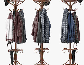 Bentwood Hat and Coat Stand 3D model