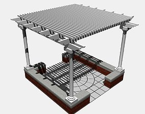 3D model Pergola 3 Freestanding