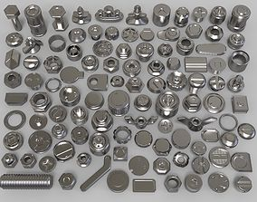 bolts and knobs-part-2 - 106 pieces 3D