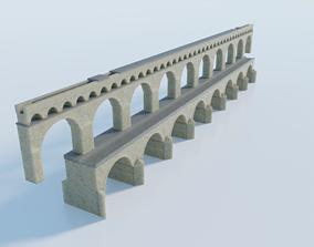 Pont du Gard Aqueduct 3D asset