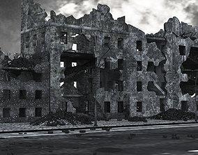 Ruined City Buildings 3D asset
