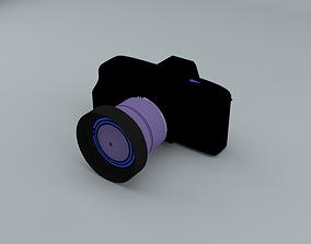 Camera 3D asset low-poly
