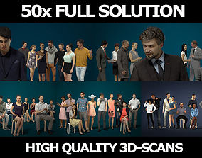 50x Gobotree Scanned People - Casual1-2-3 Sitting1 3D