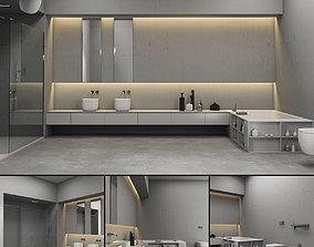 3D model Bathroom furniture set Piana 2