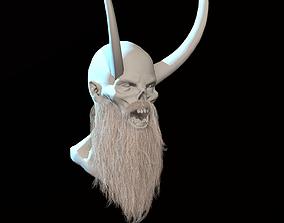 Long Beard Low Poly 3D model