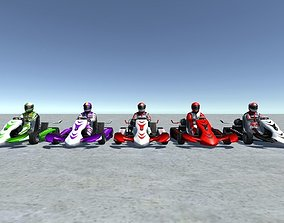 3D model 5 Low Poly Karts With Player Pack - 3