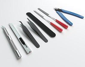 3D model Set of tools