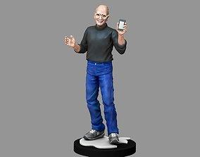 3D printable model Steve Jobs