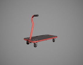 Transport Trolley - Red 3D asset