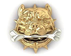 297 Head Bull Dog 3D print model