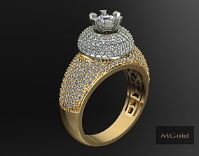 MGold033 Gold Ring 3D printable model