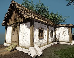 Medieval House Low poly 3D model