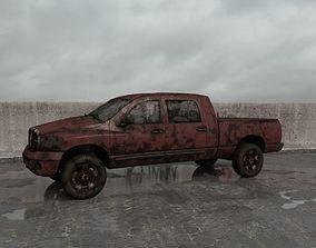 destroyed car 007 am165 3D