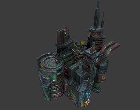 realtime Low poly sci fi industrial slums buildings 1