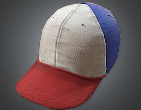 3D asset Baseball Cap 80s Retro