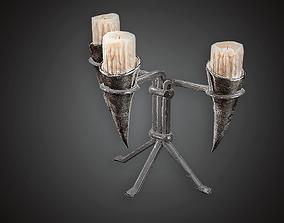 3D asset Candles - MVL - PBR Game Ready