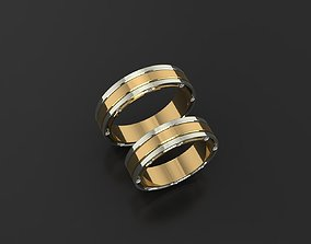 Wedding ring 3D print model men