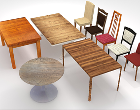 3D asset Chairs and tables pack