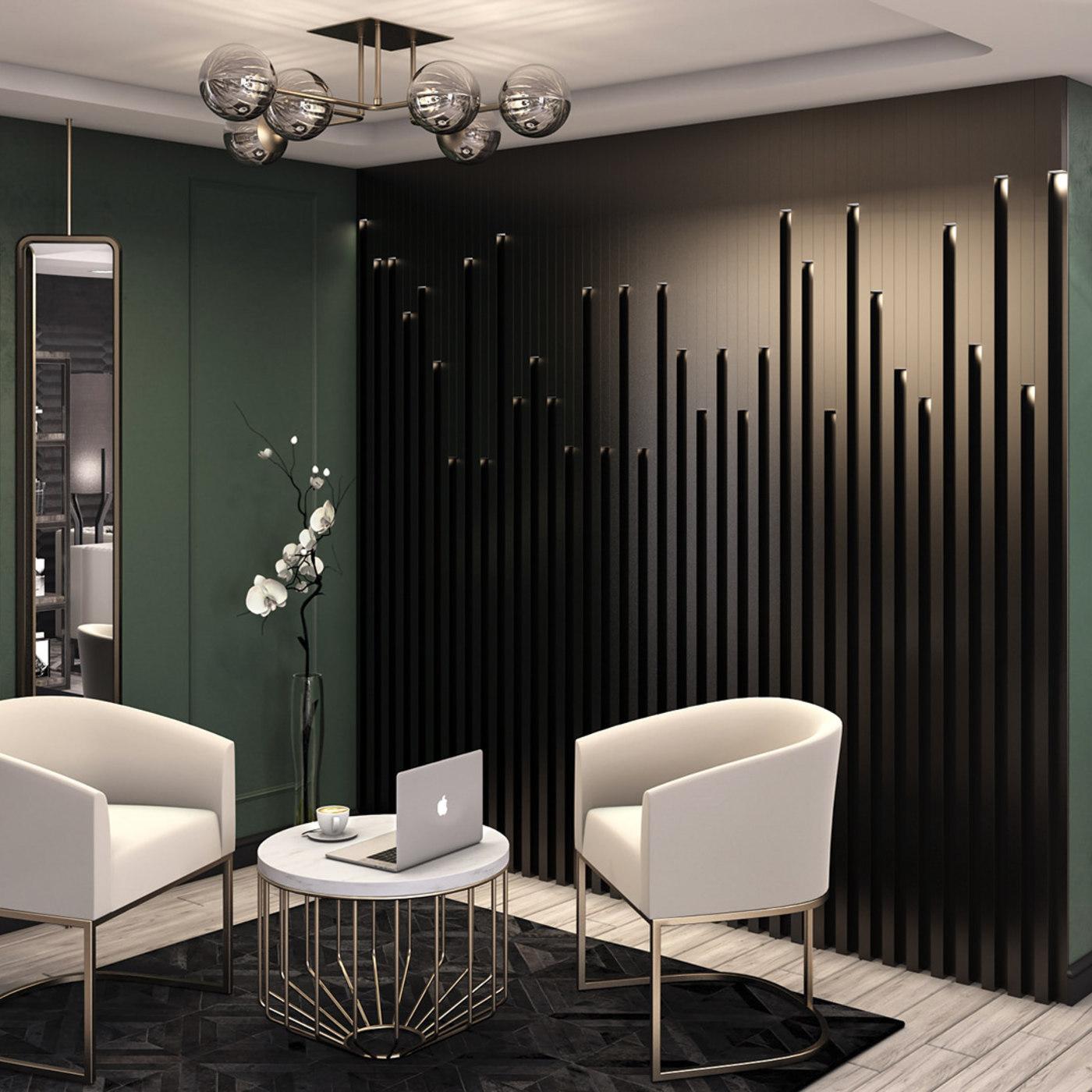 Sea-View Apartment in Green-Black