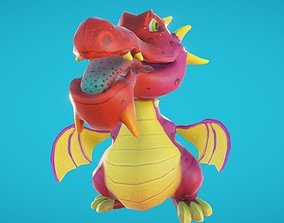 3D asset Baby Dragon Animated