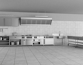 Commercial Kitchen 3d model set