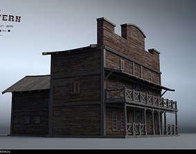 Western village House 01 3D