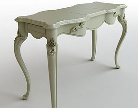 3D model Wooden console table 2