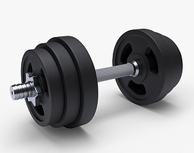 3D Gym Dumbbell Weight