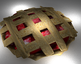 3D model Strawberry Pie