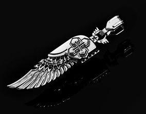 religious wing pendant biker 3D print model