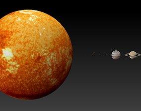 3D print model Solar system