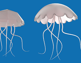 Jellyfish 3D asset game-ready