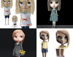 3D asset Blythe Dolls Set
