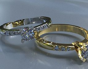 Wedding ring 1 3D print model