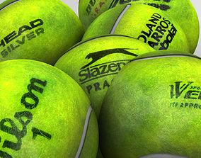 Tennis ball set 3D asset