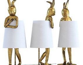 3D model kare Table Lamp Animal Rabbit Gold