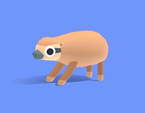 3D asset Slack the Sloth - Quirky Series