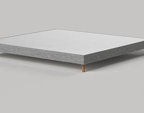 3D model Fabric Coted Mattress base-Bed