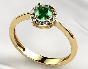 5mm Gemstone Gold Ring 3D printable model
