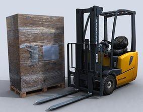 skidsteer Forklift 3D model game-ready